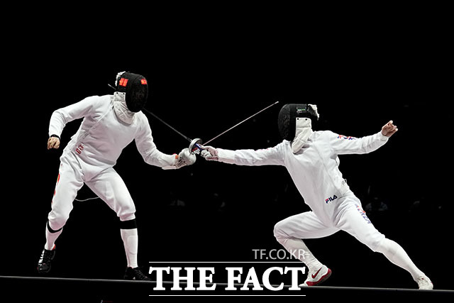한국 펜싱 남자 에페 대표팀이 올림픽 동메달을 목에 걸었다. /지바=AP.뉴시스