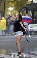 '코로나19 규제 규탄' 거리로 나온 슬로베니아 시위대 [TF사진관]
