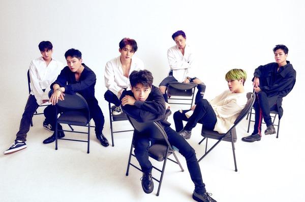 컴백 아이콘. 7인조 보이그룹 아이콘이 9일 아이돌 주간 랭킹사이트 클릭스타워즈 가수랭킹 30위를 차지했다. /YG엔터테인먼트 제공