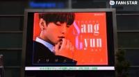 韓·日 밝혔다…JBJ95 김상균 생일 축하 전광판
